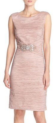 Women's Eliza J Embellished Taffeta Sheath Dress $148 thestylecure.com