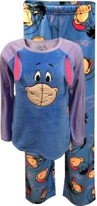 Disney Eeyore Winnie the Pooh 3D Fleece Pajama Sleep Set (L 12/14)