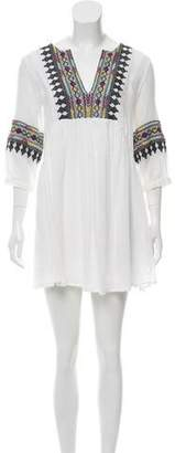 BA&SH Embroidered Metallic-Accented Tunic