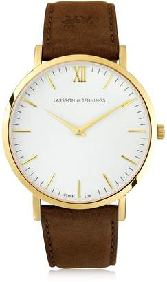 Larsson & Jennings Lugano 40mm Watch W/ Leather Band