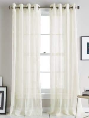 DKNY Soho Stripe Grommet Curtain Panel 84in
