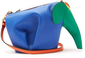 Loewe Elephant Leather Cross Body Bag - Womens - Multi