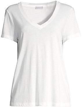 Hanro Women's Sleep and Lounge Short Sleeve Knit Top