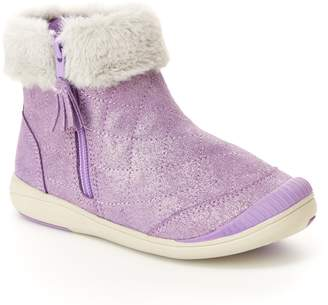 Stride Rite Chloe Faux Fur Quilted Bootie