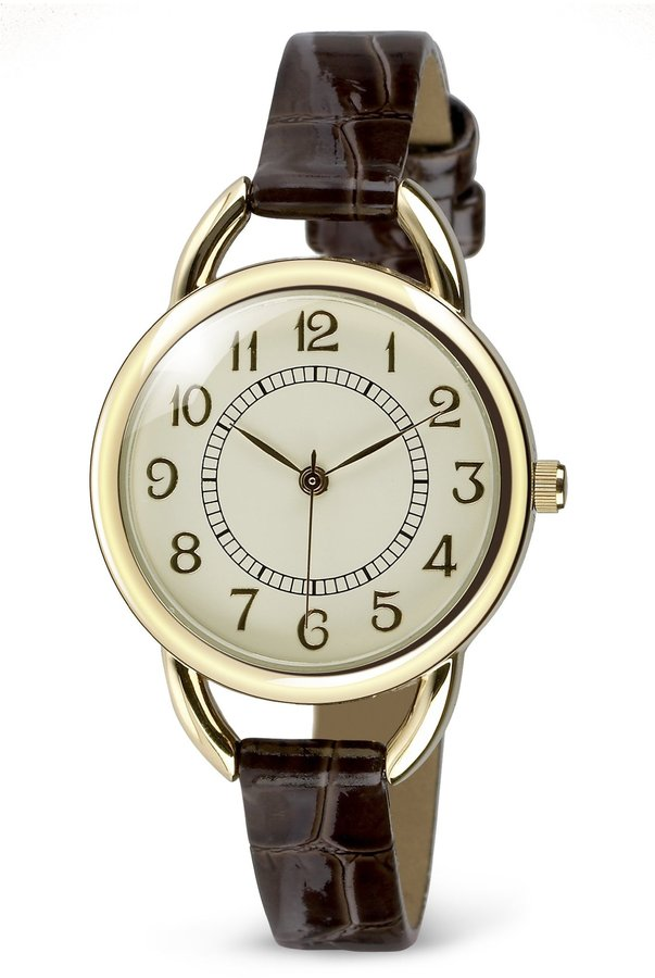 Vintage Style Round Face Analogue Watch