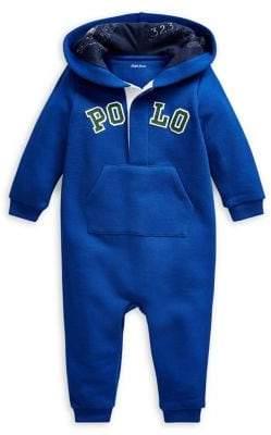 Ralph Lauren Childrenswear Baby Boy's Cotton Hooded Coverall