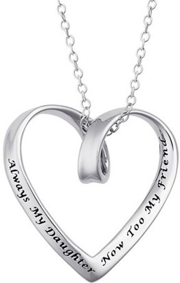 """Generic Sterling Silver """"Always My Daughter, Now Too My Friend"""" Heart Pendant"""