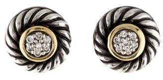 David Yurman Diamond Cookie Stud Earrings