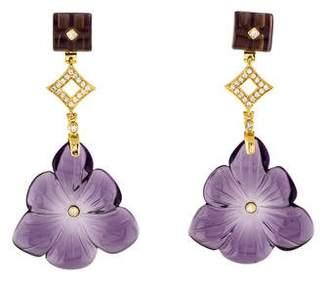 Angélique de Paris Daffodil Drop Earrings