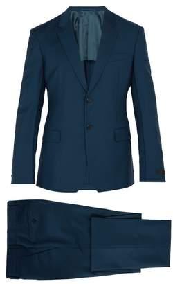 Prada Single Breasted Wool Blend Suit - Mens - Light Blue
