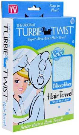 Turbie Twist Super-Absorbent Hair Towel Assorted Colors