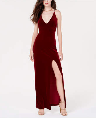 Teeze Me Juniors' Velvet A-Line Gown