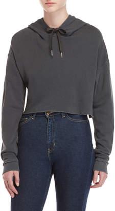 Joe's Jeans Taylor Hill x Grey Cropped Hoodie