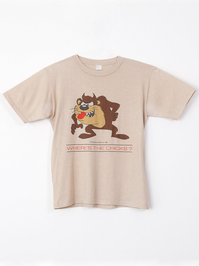 American Apparel Vintage Tasmanian Devil Where'S The Chicks? T-Shirt