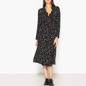 LA BRAND BOUTIQUE COLLECTION Lauria Pois Long Dotted Motif Wrapover Dress