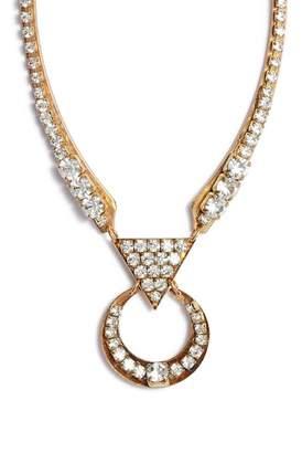 SANDY HYUN Cutout Crystal Necklace