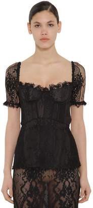 Brock Collection LACE CORSET BACK CUT OUT TOP