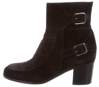 Laurence Dacade Suede Round-Toe Ankle Boots w/ Tags $325 thestylecure.com