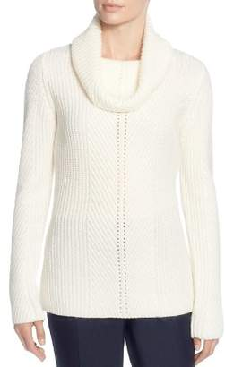 T Tahari Ribbed Cowl-Neck Sweater
