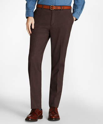 Brooks Brothers Herringbone Cotton Trousers