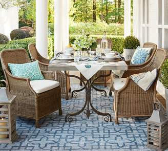 Pottery Barn Metal Dining Table + Chair Set