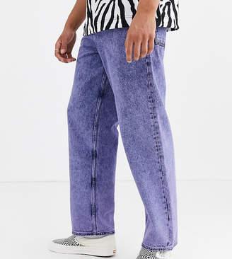 Collusion COLLUSION skater jeans in purple overdye