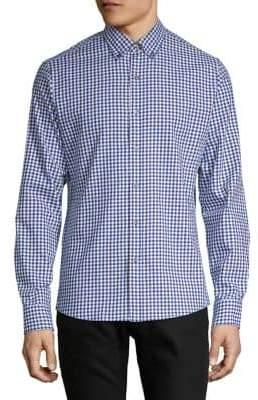 Michael Kors Slim Fit Twill Check Sport Shirt