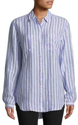 Lord & Taylor Petite Striped Button-Down Shirt