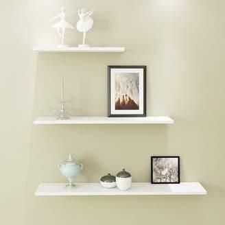 QINQINDE Wll shelf living room wlls floting shelf, Bedroom bookshelf free punch simple modern decor wll shelves
