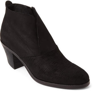 Eileen Fisher Black Murphy Nubuck Ankle Booties