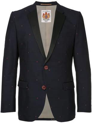Education From Youngmachines cherry embroidered blazer