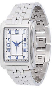 Steel by Design Stainless Steel Square Panther Link Watch