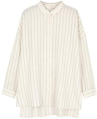 Eileen Fisher Cream Striped Gauze Shirt