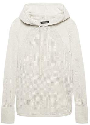 Banana Republic Petite Feather-Touch Mesh-Knit Sweater Hoodie