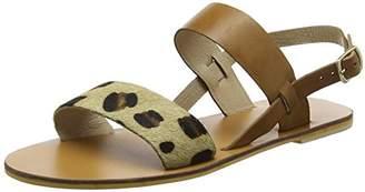 Warehouse Women's Contrast Band Open Toe Sandals,3 (36 EU)