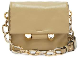 Marni Caddy Leather Cross Body Bag - Womens - Beige
