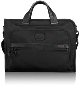 Tumi Men's Alpha 2 Slim Deluxe Portfolio - Black