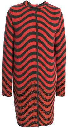 M Missoni Brushed Wool-Blend Jacquard Coat