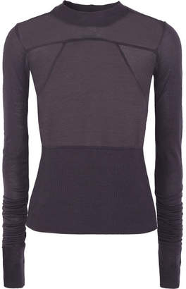 Rick Owens - Exaggerated-sleeve Stretch-jersey Top - Purple $425 thestylecure.com