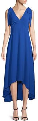 Nicole Miller Women's Sleeveless Hi-Lo Bow Dress
