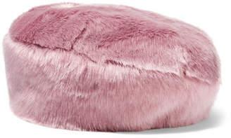 Eugenia Kim Mischka Faux Fur Beret - Pink