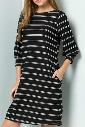 Cezanne Black Striped Dress