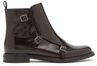 Church's Amelia Polished Leather Ankle Boots - Womens - Dark Brown