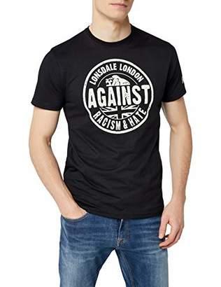 Lonsdale London Men's Against Racism Regular Fit T-Shirt-, Medium