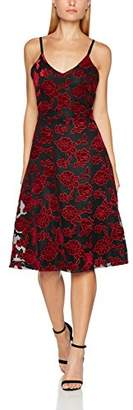 Wolfwhistle Wolf and Whistle Women's Beth Floral Velvet and Net Cami Party Dress