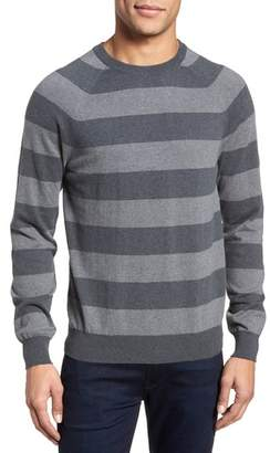 French Connection Stripe Stretch Cotton Sweater