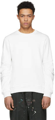 Comme des Garcons White Panelled Sleeve Sweatshirt
