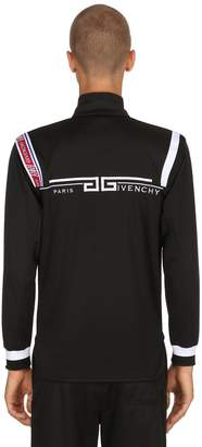 Givenchy Zip-Up Jersey Logo Sweat Jacket