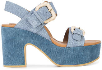 See by Chloe denim Nora platform sandals