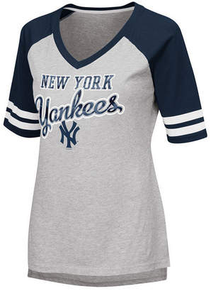 New York Yankees G-iii Sports Women's Goal Line Raglan T-Shirt
